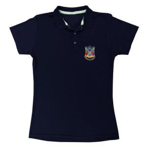 Camisa Polo Fem Piquet Brasão