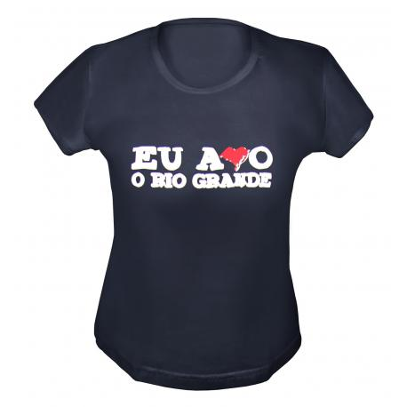 BABY LOOK EU AMO O RS PRETA