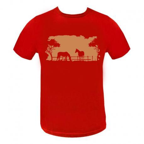 Camiseta Masc. Estampada 2 Cavalo