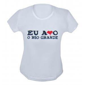 BABY LOOK EU AMO O RS BRANCA