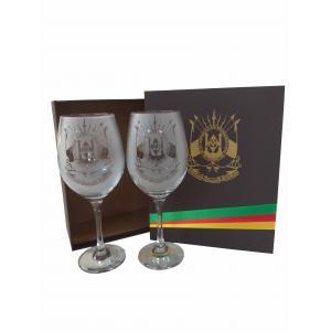 Conjunto Vinho Brasão Rs 2 Pc