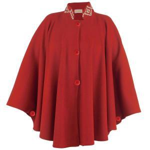 Capa Feminina Guria Cru/vermelho M/u