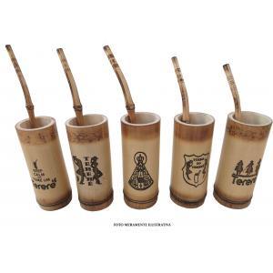 Copo Terere Bambu C/canudo