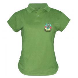 Camisa Polo Feminina (bl) Bord Brasão Rs