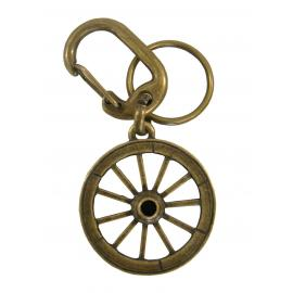 Chaveiro Roda Carreta Ouro Velho Mosquetão