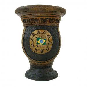 Cuia Trab C/bocal C/pe C/bt Brasil Trem Gr