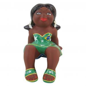 Boneca Menina Sentada Peq