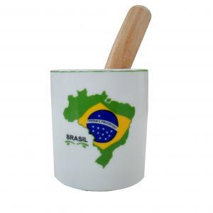 Copo Caipira C/soquete 12x7,5 Brasil (porc)