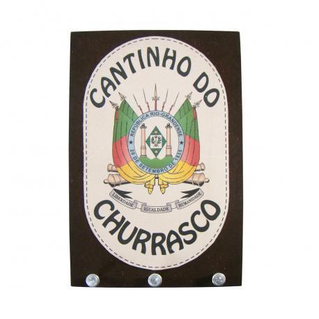 Porta Chave Brasao Cantinho Do Churrasco