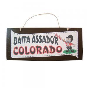 Placa M Baita Assador Colorado