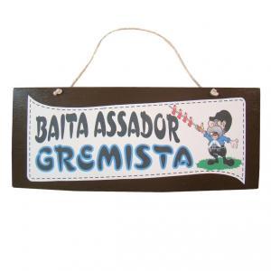 Placa M Baita Assador Gremista