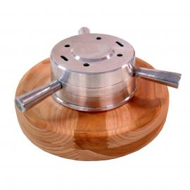 Porta Espetos Em Alumin. C/base Mad. 31x1,2cm