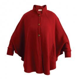 Capa Feminina C/punho Vermelha M/u