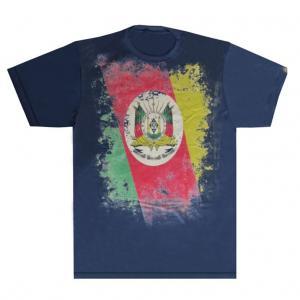 Camiseta Masc. Estampada 3 Brasão