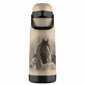 Garrafa Térmica Magic Pump 1,8l Bege Cavalos