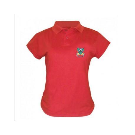 Camisa Polo Feminina (bl) Bord Brasao Rs