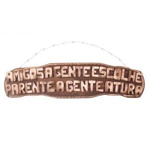 Placa Gg Amigos A Gente Escolhe Parente A G..