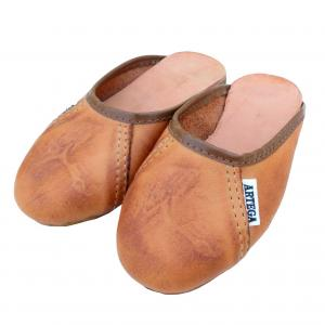 Chinelo Inf. De Couro Natural (23-32)