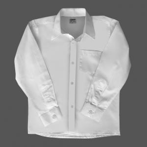 Camisa Ml Infantil Branca Se (2-8)