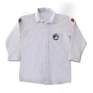 Camisa Infantil Ml Branco C/bordado Cc (0-12)