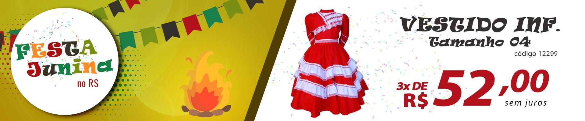 Vestido infantil de prenda tamanho 04